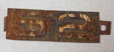 1952 Wisconsin truck license plate tab