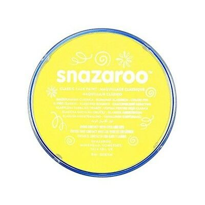 Snazaroo Classic Face And Body Paint, 18 Ml, Individual Colour, Yellow - 18ml