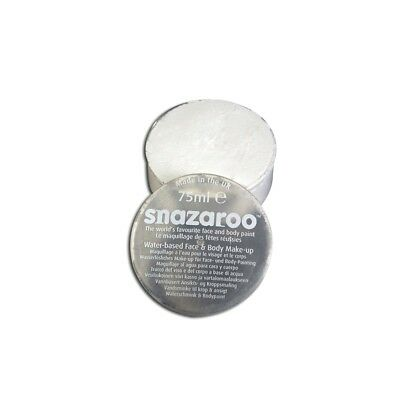 New White Snazaroo Make Up 75ml Halloween Face Paint - Fancy Dress Tubs Make