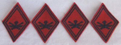 (4) French Army Artillery Anti Aircraft Diamond Shoulder Patches