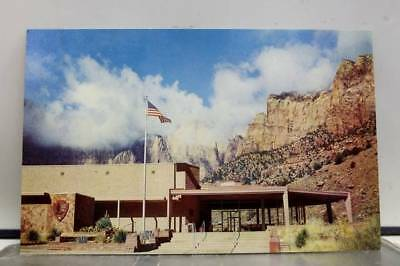 Utah UT Zion National Park Oak Creek Canyon Visitor Center Postcard Old Vintage
