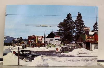 Montana MT Winter West Yellowstone Park Postcard Old Vintage Card View Standard