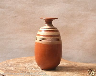 """Ceramic Bud Vase Made in Spain 1998, Small Collectible Signed Piece 5"""" Handmade"""