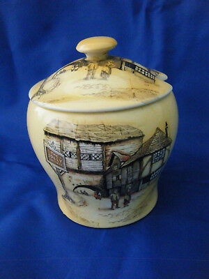 """Lancaster & Sons Preserve Dish With """"the Jolly Drover"""" Inn Scene"""