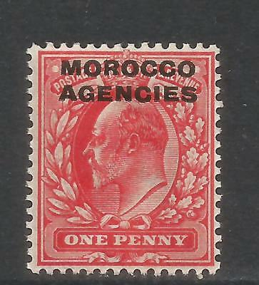 Great Britain 1907-12 Morocco King Edward VII 1p carmine (202) MH