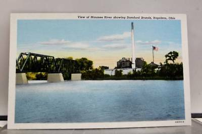 Ohio OH Napoleon Standard Brands Maumee River Postcard Old Vintage Card View PC