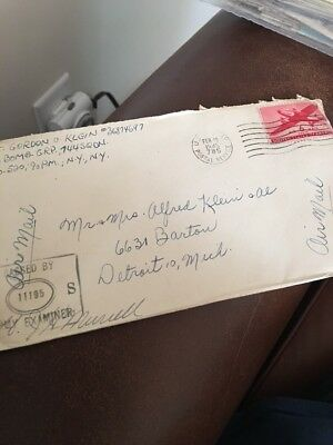 """WW2 Letter August. 1945 """"We Lost 2 Engines As We Left The Target""""  Germany Bomb"""