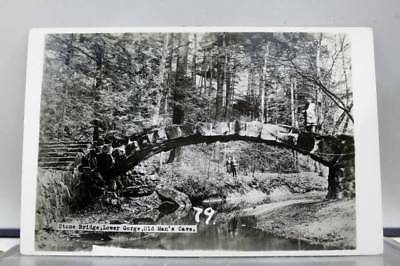 Scenic Stone Bridge Old Mans Cave Postcard Old Vintage Card View Standard Post