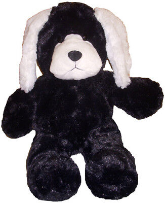 Unstuffed Black White Dog Puppy Plush Build Stuff Your Own Animal NeW