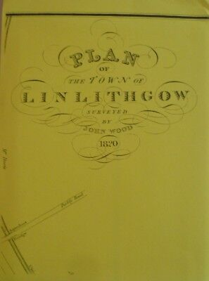 Map  Plan Town Linlithgow Scotland 1820  New Reproduction Map