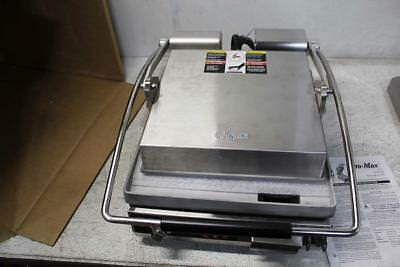 Star 14 in Pro Max 2.0 Electric Single Panini Grill w/Smooth Alum Plates PST14TQ
