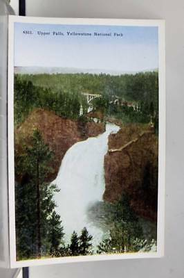 Yellowstone Park Upper Falls Postcard Old Vintage Card View Standard Souvenir PC