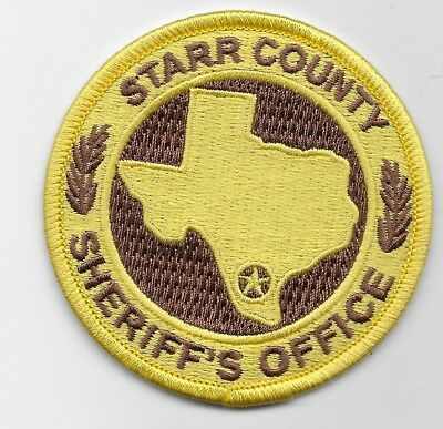 Round Starr County Sheriff State Texas TX patch NEAT