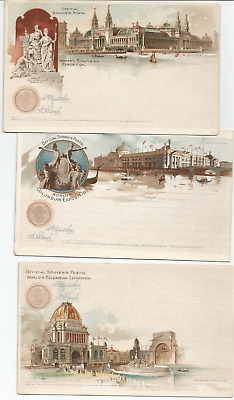 6 Unused Postcards & Stationary From World's Columbian Expo- Chicago, 1893