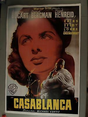 LOT of 44 1992 CASABLANCA MOVIE POSTERS~TURNER BROADCASTING NETWORK (24 x 36)
