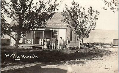RPPC ROSWELL, ID Idaho  The HOLLY RANCH, HOUSE & FAMILY   1910  Postcard