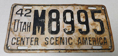 1942 Utah passenger car license plate