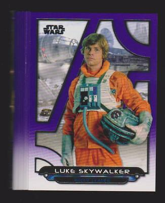 2018 Topps Star Wars Galactic Files Lot of 14 Different Purple Parallels /99!