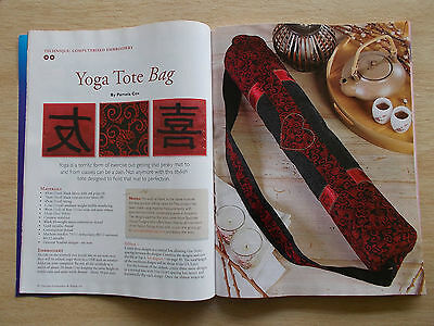 Machine Embroidery & Textile Art Vol 17 #8~Cushions~Quilts~Yoga Bag~Luggage Tags