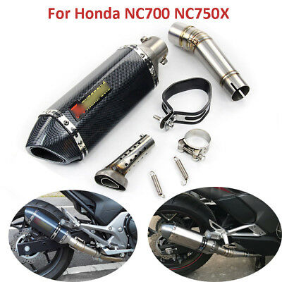 Motorcycle Exhaust System Middle Link Pipe Muffler Pipe For Honda NC700 NC750X