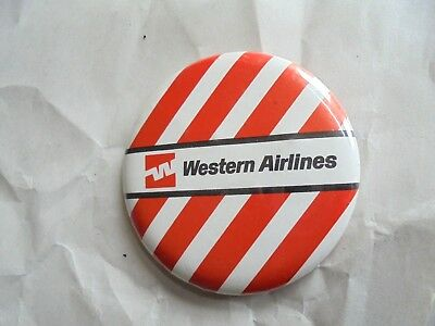 Cool Vintage Western Airlines Advertising Pinback Button