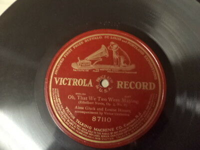 1912 Patent VICTROLA 1-Sided 78/Alma Gluck&Louise Homer/E!
