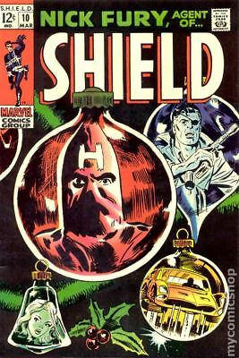 Nick Fury Agent of SHIELD (1st Series) #10 1969 VG- 3.5 Stock Image Low Grade