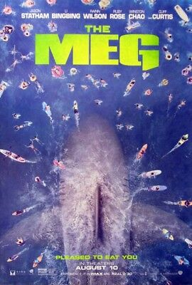 THE MEG great original 27x40 D/S movie poster