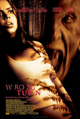 WRONG TURN great original 27x40 D/S movie poster (th36)