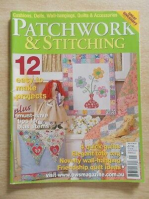 Patchwork & Stitching Vol 4 #6~Quilts~Dolls~Rooster~Poppies~Country Charms pt2