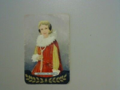 """1 Swap/Playing Card - Coles Named Series """"Beauty in 1650"""""""
