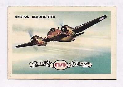 "1958 Atlantic Petrol  ""Conquest of the Air"" Swap Card:  BRISTOL BEAUFIGHTER  #31"