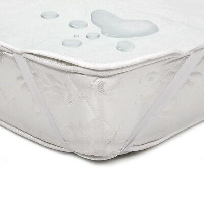 Waterproof cotton and PUR mattress protector 60 - 200 cm width bed cover topper