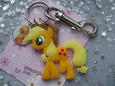 My Little Pony Apple Jack  Strong Large Key Ring Double Sided With Gift Bag ,