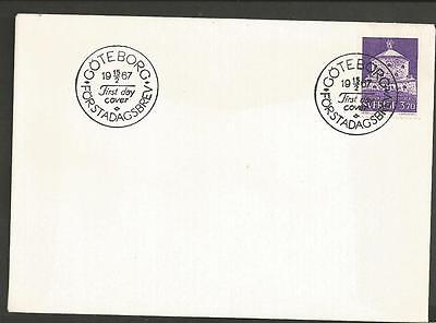 SWEDEN - 1967 The Lion Fortress, Gothenburg   - FIRST DAY COVER