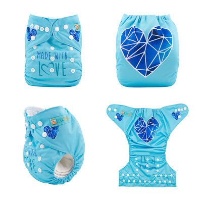 ALVABABY Cloth Diapers One Size Reusable Washable Pocket Best Nappies + Inserts