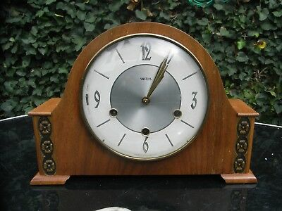 Edwardian Mantle Clock with Westminster Chimes / Floating Balance