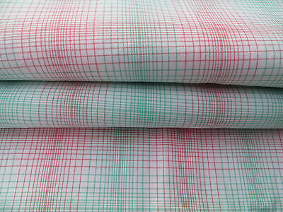 "Unused  Cottage Checked Duvet Cover Plaid Fabric Single Bed Twin  51 "" by 70 """