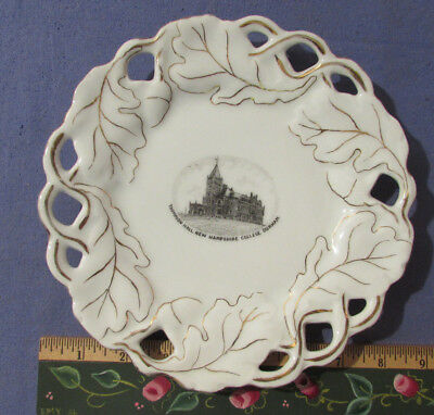 Vintage 1920S Thompson Hall University Of Nh Durham Souvenir China Plate Unh