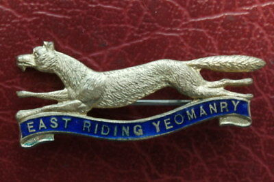 Wwi, East Riding Yeomanry , Badge. Sweetheart Brooch