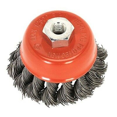 Toolzone - 80mm M14 - Professional Twist Knot Cup Brush - Wire Wheel 9 Angle