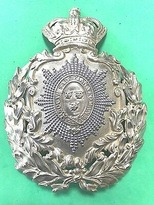 SOUTH SALOPIAN YEOMANRY HELMET PLATE / BADGE - GENUINE & ORIGINAL - shropshire