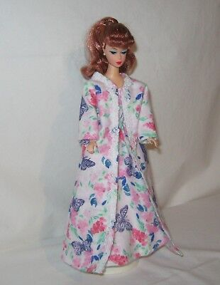 Handmade Butterflies and Floral Print Flannel  Barbie Pajamas and Robe