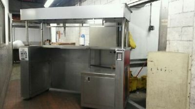 Mobile Concession Cart with a Sink and Storage Cupboards