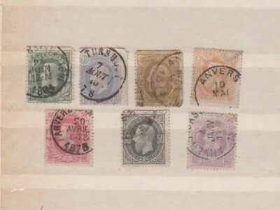 A very nice Belgian group of 1869 issues to 1F