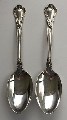 "Two Vintage Large Gorham Chantilly Sterling Silver 7"" Table Spoons No Mono 10"