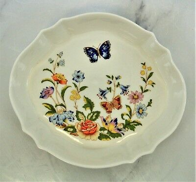 Cottage Garden AYNSLEY English Bone China Ring Jewelry Tray Dish Butterfly