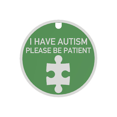 I have Autism Tag & Lanyard - Bright, Bold & Designed to Raise Awareness