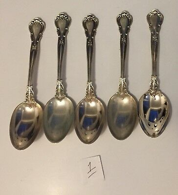 "Five (5) Vintage Gorham Chantilly Sterling Silver 5 7/8"" Teaspoons No Monos 1"