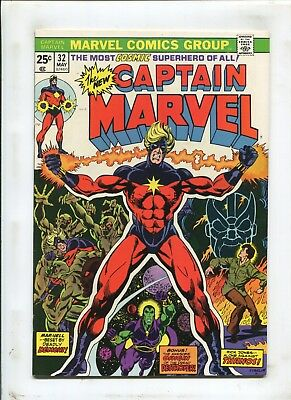 Captain Marvel #32 - Beset By Deadly Demons! - (7.5) 1974
